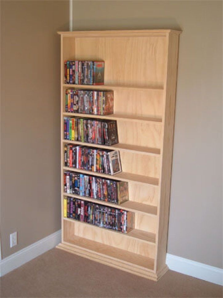 DIY DVD shelf