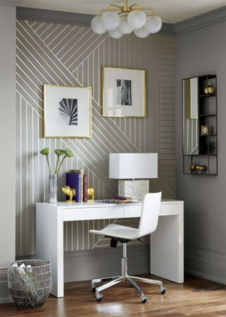 DIY Linear Wallpaper