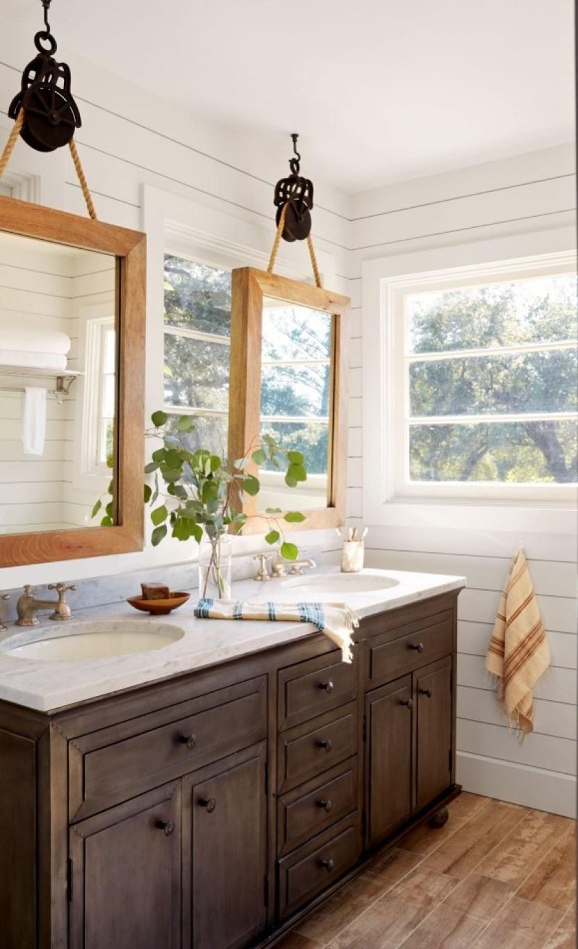 Hang Bathroom Mirror Ideas