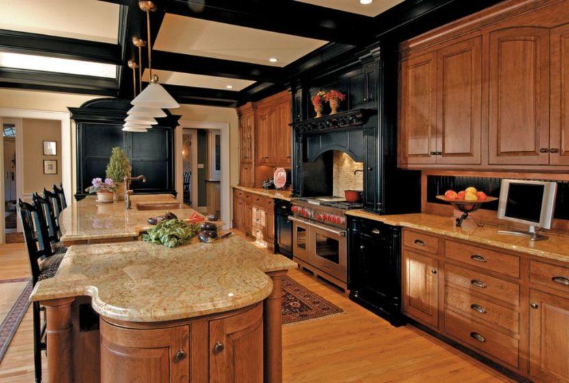 Honey decorating with black appliances
