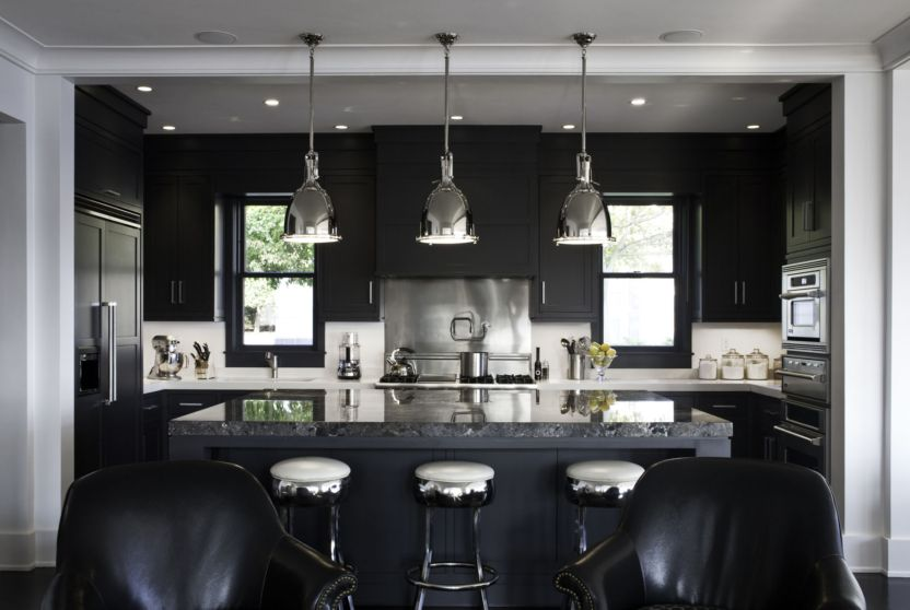 beautiful kitchens with black appliances