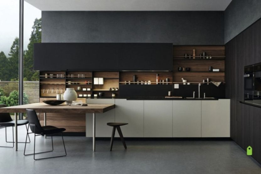 cool kitchens with black appliances