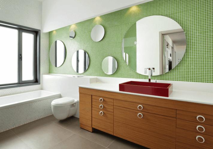 Mix Bathroom Mirror Ideas