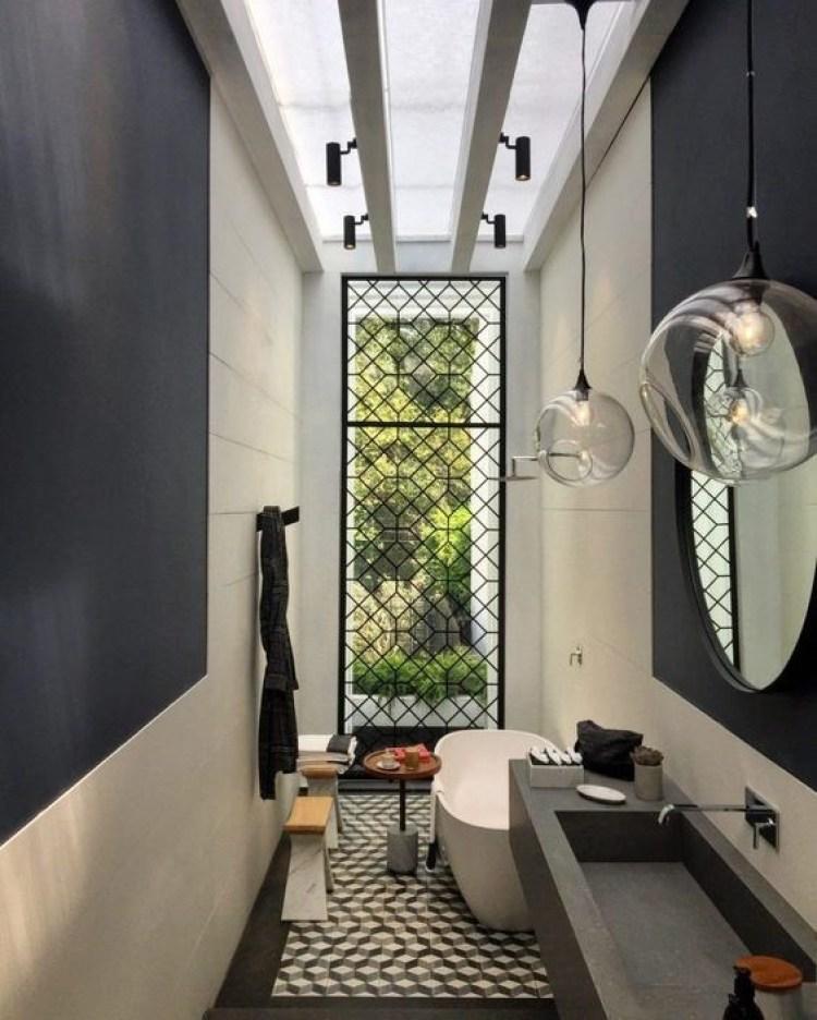 Chic Small Bathroom Ideas - Bathroom in Narrow Corridor