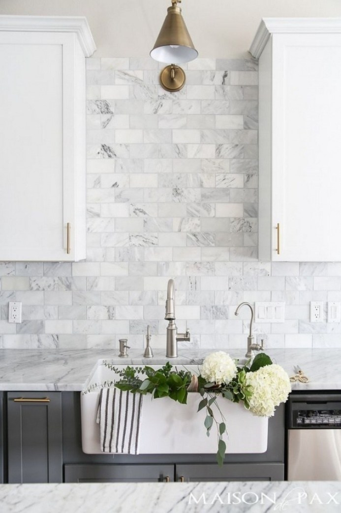 Gray and white kitchen backsplash ideas 2019