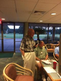 Lion Gene addressing the Club at his final meeting
