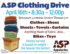 ASP Clothing Drive flyer