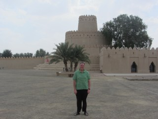 In front of the fort