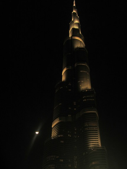The Bur Khalifa at night!