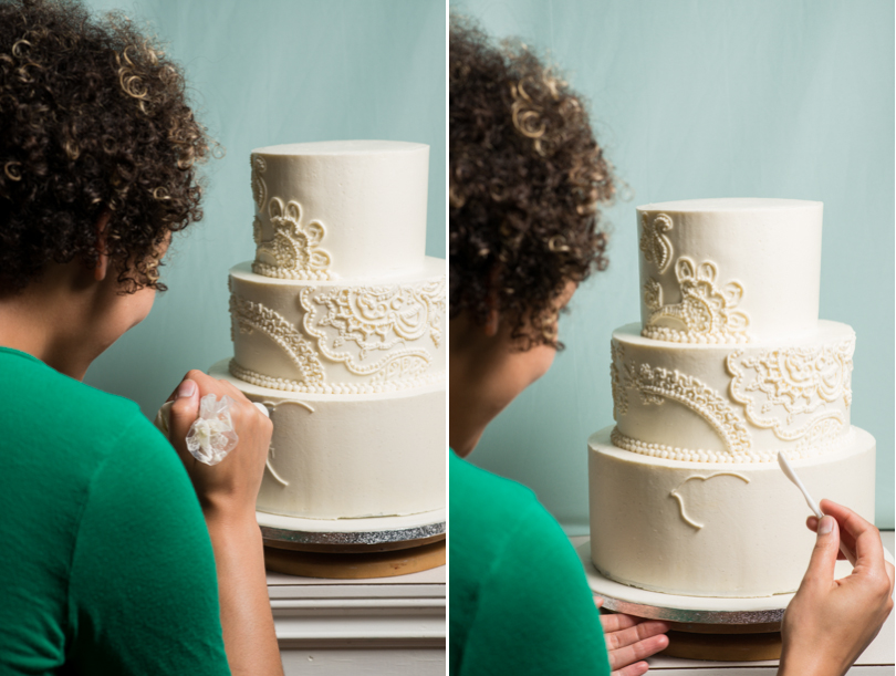 creating wedding cake