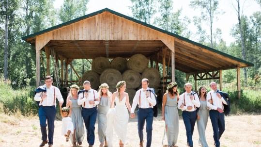 Sunshine Ranch wedding bridal party