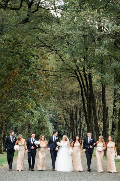 bridal party at Harrison Hot Springs Resort wedding