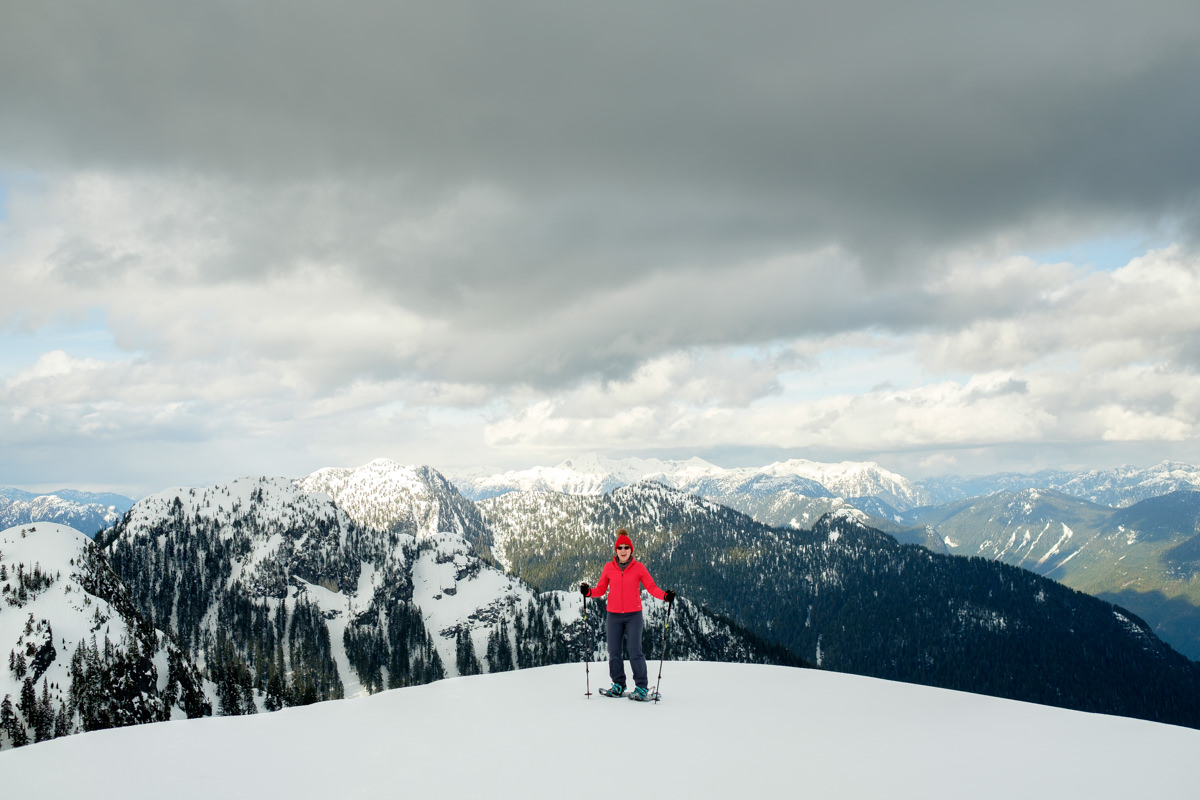 First Peak Seymour Mountain snowshoeing
