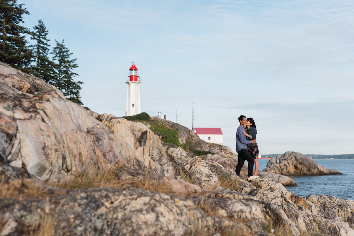 Lighthouse Park engagement photos