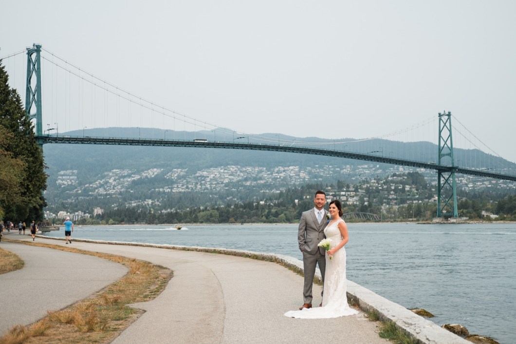 Stanley Park Pavilion wedding couple photos