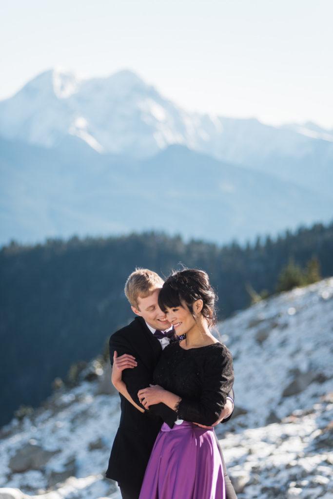 bride groom heli elopement