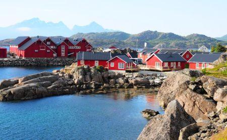 Fischhütten zum Mieten in Mortsund