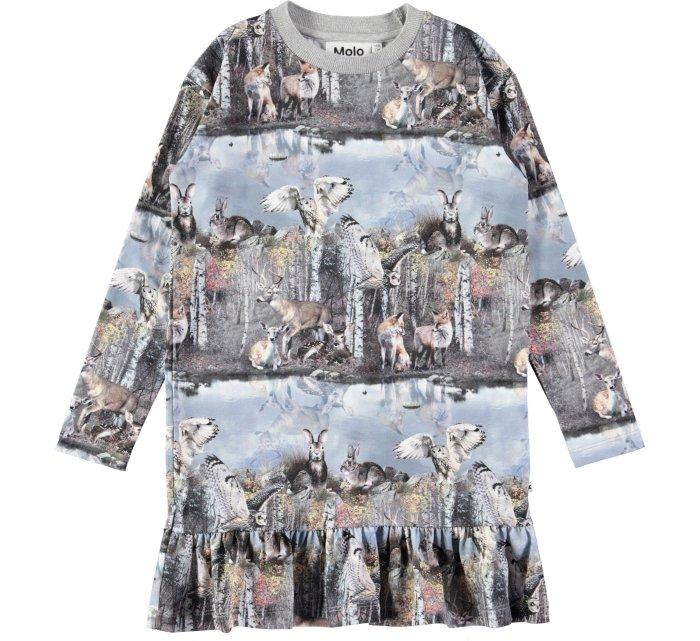 Caras By the Forest Lake Dress-DRESS-MOLO-98/104 - 3/4 yrs-jellyfishkids.com.cy