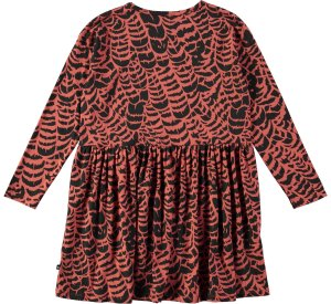 Carly graphic feather dress-DRESS-MOLO-98/104 - 3/4 yrs-jellyfishkids.com.cy