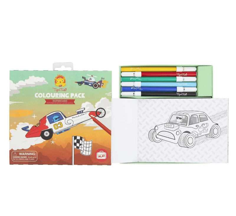 COLOURING PACK - SUPERCARS-Creatives-Tiger Tribe-jellyfishkids.com.cy