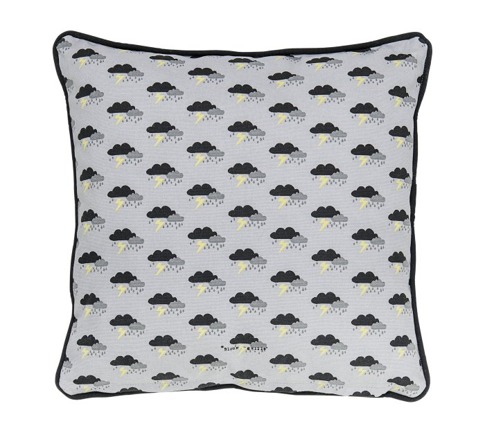 Cushion, Grey, Cotton-Cushion-Bloomingville-jellyfishkids.com.cy