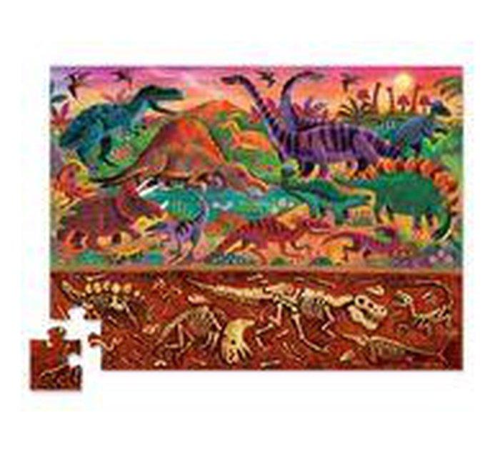 Dinosaurs Puzzle - Above & Below!-Puzzle-Crocodile Creek-jellyfishkids.com.cy