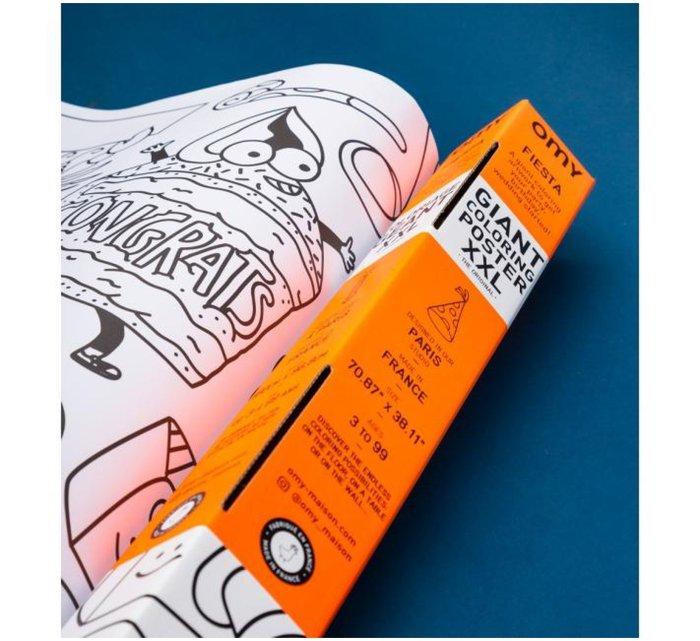 Giant Coloring roll XXL - Fiesta-XXL Posters-OMY-jellyfishkids.com.cy