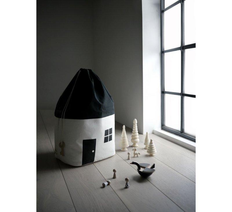 House No.1 - Organic storage bag (small)-Organic storage bag-Rock & Pebble-jellyfishkids.com.cy