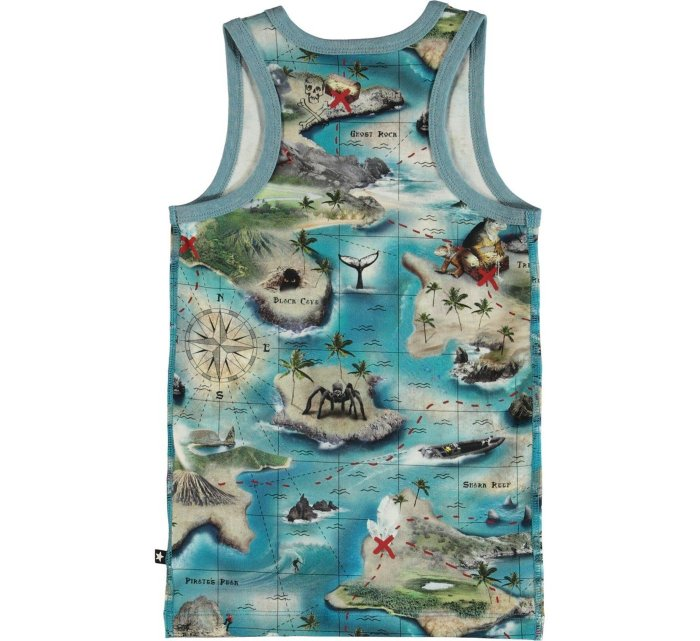 Jim -Treasure map top-Tank Top-molo-110/116-5/6 yrs-jellyfishkids.com.cy