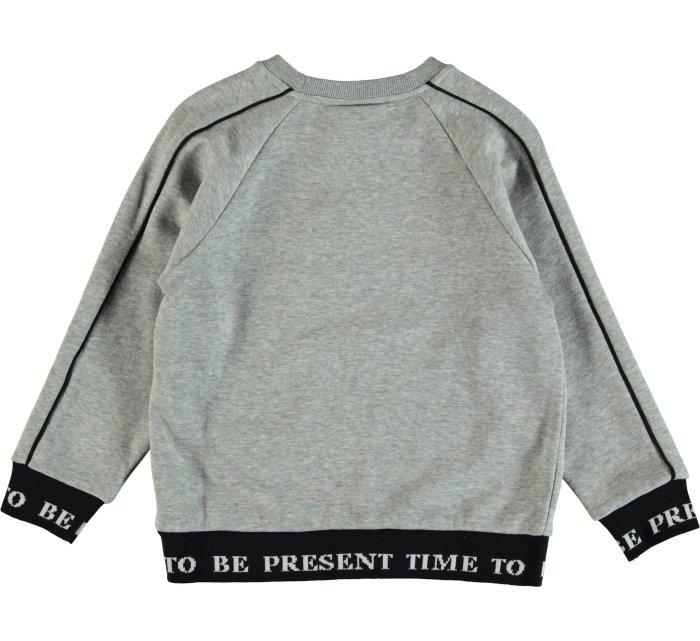 Meek Grey melange Sweatshirt-Jumper-Molo-98-3 yrs-jellyfishkids.com.cy