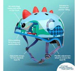 Micro Deluxe 3D Scootersaurus Helmet-Helmet-Micro Scooter-Small-jellyfishkids.com.cy