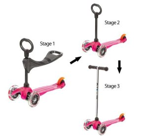 Mini Micro Pink O-Bar & Seat-Micro Scooter-Micro Scooter-jellyfishkids.com.cy