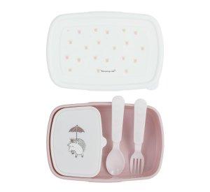 Princess Lunch Box w/Cutlery, Rose-Lunchbox-Bloomingville-jellyfishkids.com.cy