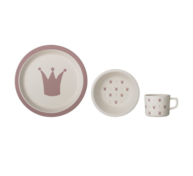 Princess Serving Set, Rose, Bamboo-Bamboo Tableware-Bloomingville-jellyfishkids.com.cy