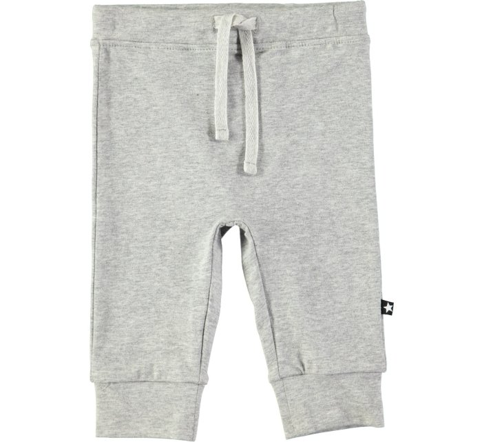 Selena grey melange soft pants-GIRLS TROUSERS-MOLO-68 - 6/12 mths-jellyfishkids.com.cy