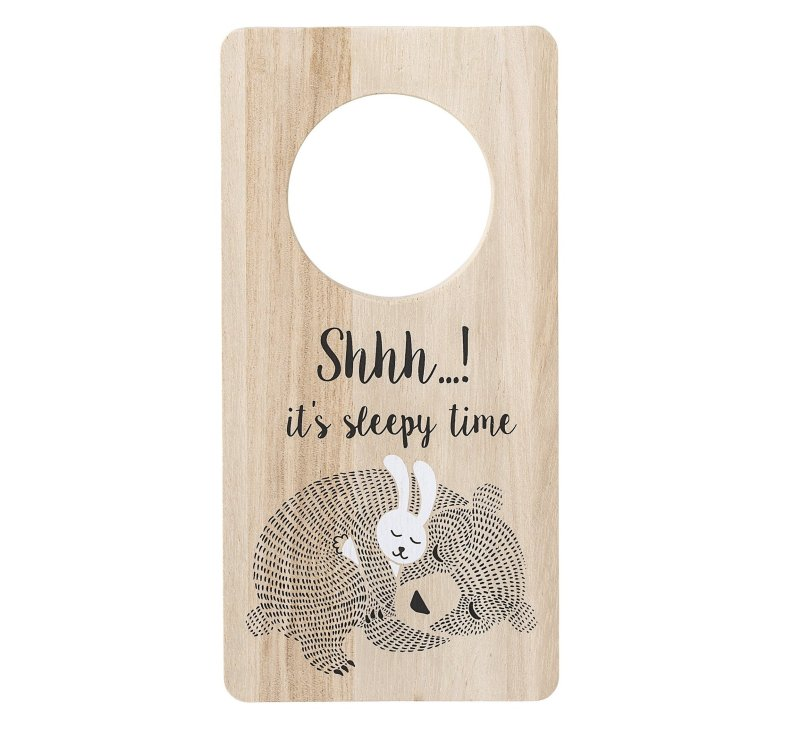 Sign, Nature, Paulownia-Door hanger sign-Bloomingville-jellyfishkids.com.cy