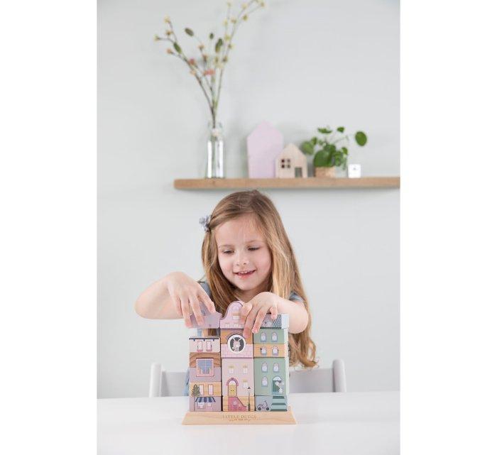 Stacking blocks facades pink-Wooden Toys-Little Dutch-jellyfishkids.com.cy