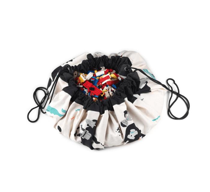 Worldmap / Stars - Toy Storage Bag-Storage Bag-Play&Go-jellyfishkids.com.cy