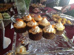 My favorite: mini apricot cheesecakes