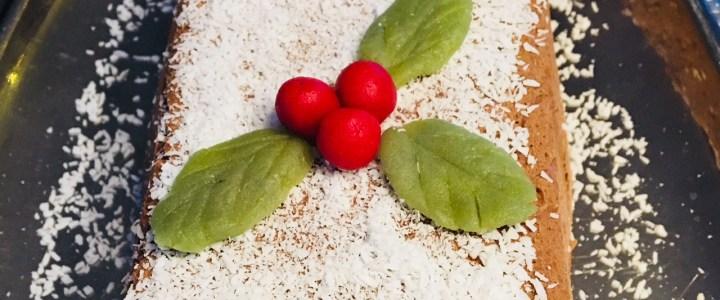 Buche de Noël chocolat et noix de coco magique