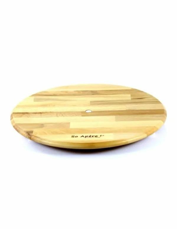 plateau tournant en bois fabrication francaise
