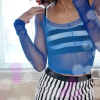 DIY: Sheer Crop Top!