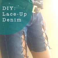 DIY: Lace-Up Denim!
