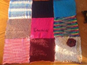 courtepointe de bébé tricotée idée cadeau de naissance ou noël