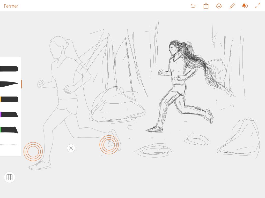 Les 8 meilleures apps pour dessins, sketchs et notes sur tablette adobe draw shape runner
