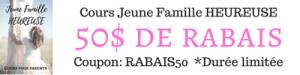 Cours Jeune Famille heureuse rabais 50