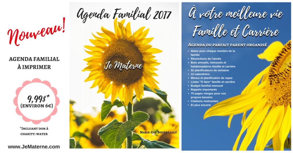 Agenda familial 2017 Je Materne