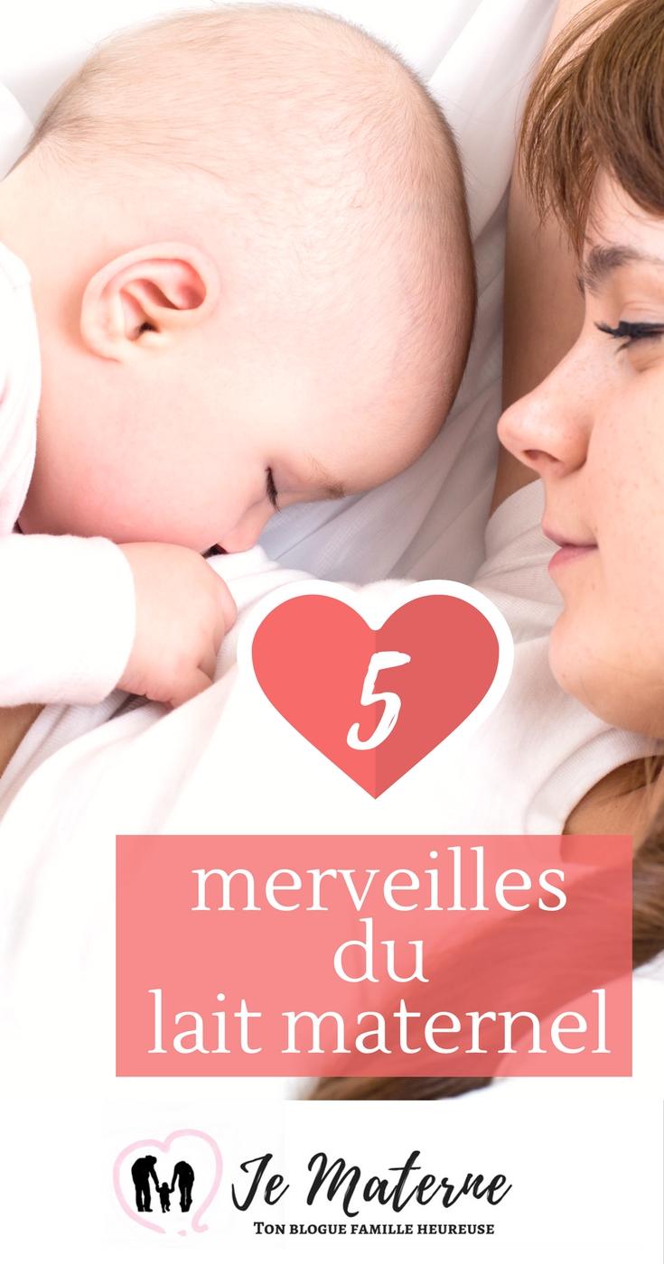 Bienfaits de l'allaitement- 5 merveilles du lait maternel - À lire sur Je Materne!