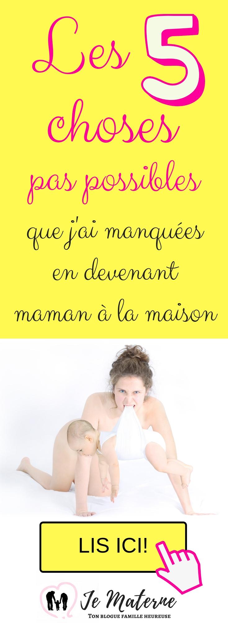 Les 5 choses que j'ai manquées en devenant maman à la maison - à lire absolument sur JeMaterne.com #viedemaman #maman #bébé #enfants http://jematerne.com/2018/09/16/5-choses-pas-possibles-que-jai-manquees-en-devenant-maman-a-la-maison-2/