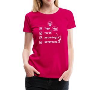yoga-tarot-astrologie-spirituelle-womens-premium-t-shirt vêtement marie-eve boudreault robe camisole